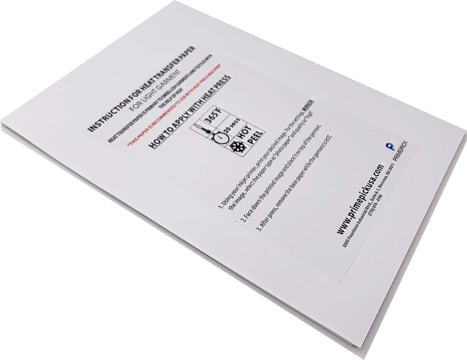 Inkjet Transfer Paper for light Garment